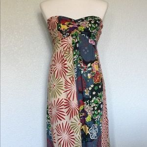 Fire LA Strapless Floral Maxi Dress, 100% Cotton